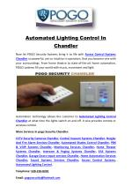 Automated Lighting Control In Chandler