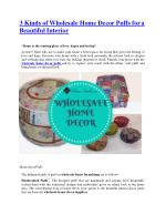 3 Kinds of Wholesale Home Decor Puffs for a Beautiful Interior