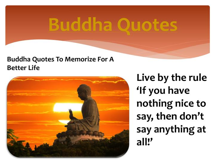 Ppt Buddha Quotes Powerpoint Presentation Id7297119