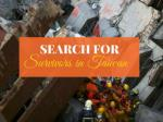 Search for survivors in Taiwan