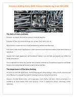 Precision Bolting Starts With Precision Machining From MR-XPM