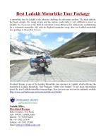 Best Ladakh Motorbike Tour Packages in India