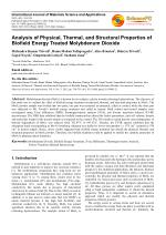 Biofield and Its Effect on Properties of Molybdenum Dioxide