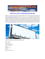 Sunrise Press Create eye catching Business Banner Signs