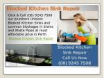 Blocked Kitchen Sink Repair