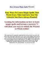 Real magic spells - Learn real magic secrets!
