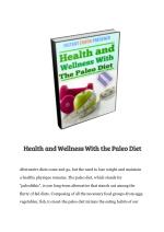 Health and Wellness With the Paleo Diet