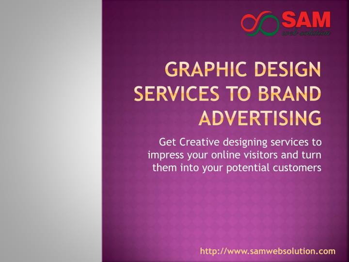 graphic design services to brand advertising n.