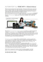 AUTOMATION Your HOME WITH - Elitetechoftexas