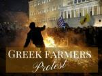 Greek farmers protest