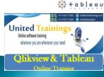 tableau online training | tableau online course |tableau server training | United Trainings