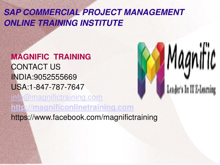 sap commercial project management online training institute n.