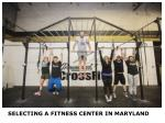 Fitness Centers in Maryland