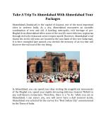Take A Trip To Ahmedabad With Ahmedabad Tour Packages