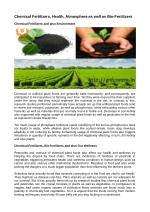 Chemical Fertilizers, Health, Atmosphere as well as Bio-Fertilizers