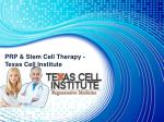 PRP & Stem Cell Therapy in Dallas - Texas Cell Institute