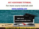 ACC 422 ACADEMIC ACHIEVEMENT / UOPHELP