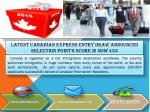 Latest Canadian Express Entry Draw Announced Selection point's score is now 453