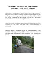 Visit Satpura Hill Station and Tourist Spots in Gujarat With Gujarat Tour Packages