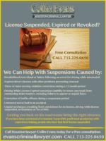 Suspended license in Houston Texas