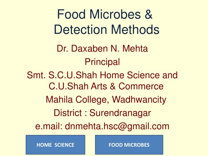 food microbes detection methods n.