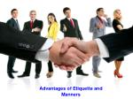 Advantages of Etiquette and Manners