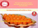 Best Indian Restaurant and Food Delivery Ottawa | Brampton Foods