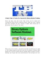 4 Smart Tips & Tricks For Successful Binary Option Trading