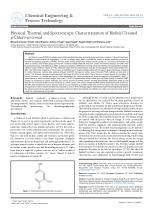 Physical, Thermal and Spectroscopic Characterization of Biofield Treated p-Chloro-m-cresol