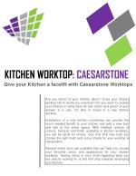 KITCHEN WORKTOP: CAESARSTONE