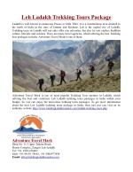Leh Ladakh Trekking Tour Packages in India