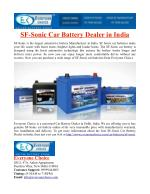 SF Sonic Car Battery Dealer in India