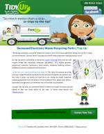 Deceased Electronic Waste Recycling Perth   Tidy Up