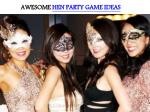 AWESOME HEN PARTY GAME IDEAS