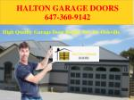 High Quality Garage Door Repair Service Oakville | Halton Garage Doors