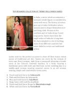 TOP DESIGNERS COLLECTION OF TRENDY BOLLYWOOD SAREES