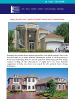 House Design Plan - Special Design Choices and Considerations