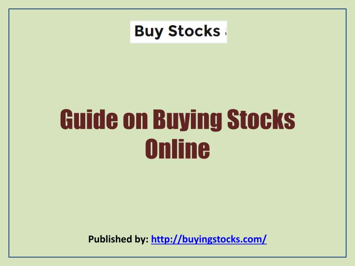 guide on buying stocks online n.