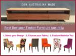 Best designer timber furniture australia