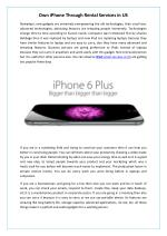 Own iPhone Through Rental Services in US