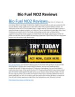 Bio Fuel NO2 Reviews - Does It Really Work?