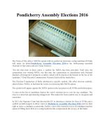 Pondicherry Assembly Elections 2016