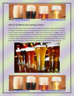 Find out the different tastes and flavors of beers at British Exports?