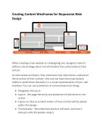 Creating Content Wireframes for Responsive Web Design
