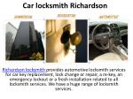 Car locksmith Richardson