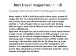 best travel magazines in india