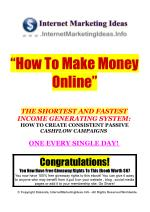 How To Make Money Online - The Quickest Way I'll Prove It To You!