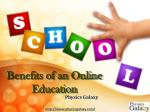 Benefits of an Online Education