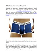 What Makes Boxer Briefs a Must Have?