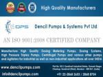 Dencil Pumps and Systems Private Limited